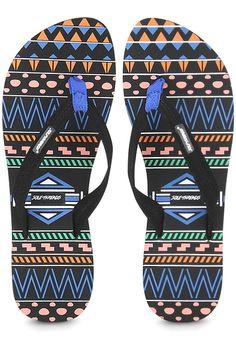 069b8fc1caa8b5 Sole Threads Mayan Black Flip Flops