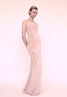 blush colored dresses | marchesa wedding dress for romantic brides blush pink column