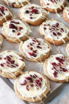 There's something about the simplicity of cookies and the sweet, tart flavor of cranberries that, when combined, create a perfect holiday treat. Drizzle or spread a sweet orange glaze on top and garnish with chopped fruit pieces for a dessert that will wow anyone's taste buds.