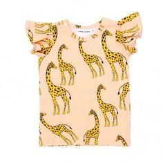 Stadtlandkind - T-Shirt Giraffe Pink Mini Rodini