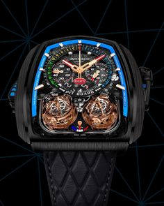 Jacob & Co. Big Watches, Cool Watches, Tourbillon Watch, Skeleton Watches, Amazing Watches, Luxury Watches For Men, Fashion Watches, Ring Watch, Twin Turbo