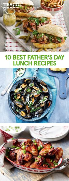 Treat dad to a celebratory lunch this Father's Day. From pulled pork hot dogs and lamb kebabs to mussels cooked in a beer broth, our lunch ideas are sure to go down a treat. | Tesco