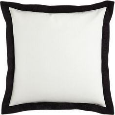 Legacy Home White European Sham with Black Border (115 NZD) ❤ liked on Polyvore featuring home, bed & bath, bedding, bed accessories, white european pillow shams, white bed linens, white euro sham, legacy home bedding and white european shams