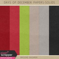 Days of December Paper Solids Kit