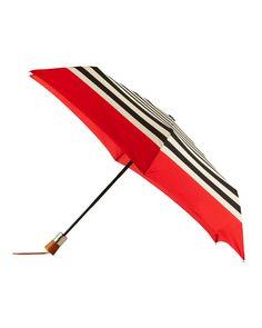 ShedRain Striped Auto Open & Close Umbrella, Bond/Red