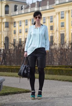 100312 #outfit , h&m trend in Shirt / Blouses, h&m trend in Shorts