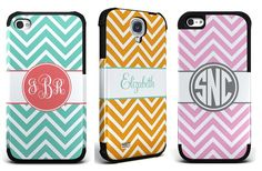 GroopDealz   Personalized Chevron Phone Cases. I want the mint one!!!!