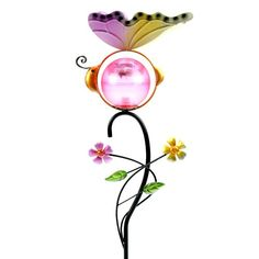 Butterfly Metal Art Decor Solar Powered Garden Light * See this great product.