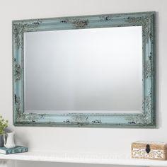 Kirsten Vintage Style Teal Mirror 110 x 80 cm