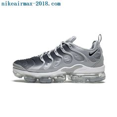 f1d4b536fc 2018 Nike Air Vapormax Plus Mens Sneakers Gray Black Casual Sneakers, Air  Max Sneakers,