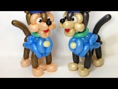 Chase's body from balloons - Paw Patrol (Subtitles) Twisting Balloons, Balloon Arch, Balloon Garland, Balloon Decorations, Balloon Ideas, Balloon Toys, Balloon Crafts, Perros Paw Patrol, Paw Patrol Balloons