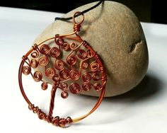 Swirly Tree Of Life Pendant  •  Free tutorial with pictures on how to make a wire wrapped pendant in under 25 minutes