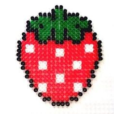 Strawberry perler beads by tropicmel by lorie