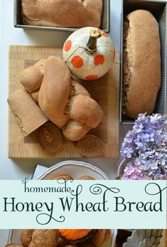The easiest, tastiest homemade honey wheat recipe I've found. The post has full video instructions, along with the printed recipe.  Try it! Your house will smell amazing and your family will sing your praises! via lifeingrace
