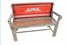 https://flic.kr/p/q8H44c | Old Truck Tailgate Bench | Recycled Salvage Design www.recycledsalvage.com