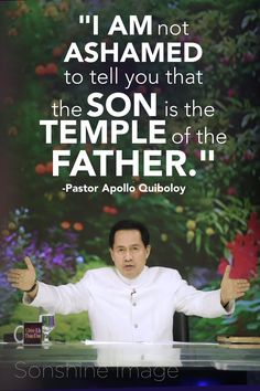 Apollo Quiboloy is the Appointed Son of God and a revolutionary who has set a new paradigm of salvation, financial prosperity, and the love of one's fellow man. Spiritual Words, Spiritual Enlightenment, Spirituality, Son Of God, Phone Wallpapers, Revolutionaries, Apollo, To Tell, Ministry