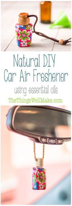 Keep your car smelling fresh with this easy, natural DIY car air freshener using the essential oils of your choice. via @thethingswellmake