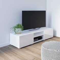unit decor Glam Fairley TV Stand for TVs up to 60 inches Simple Living Room Decor, Living Room Tv, Living Room Modern, Small Living, Home Tv Stand, Ikea Tv Stand, White Tv Stands, Cool Tv Stands, Curved Tv Stand