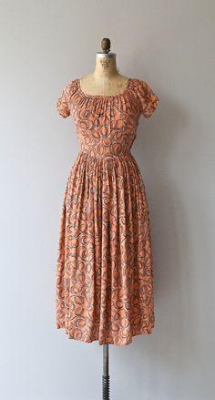 Dizzy Ribbon dress vintage 1930s dress rayon 30s by DearGolden