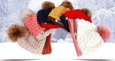 Free Shipping 1 PCS Fashion 2016 Autumn And Winter Hats Warm Knitting Ball Cap Casual Outdoor Caps For Women WMMI003