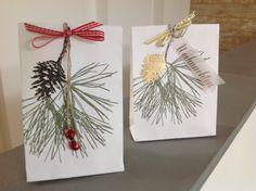 Bag-a-Lope, Stampin Up Klassische Weihnacht, stampin Up Weihnachtstrio, Gefaltete Tüte aus einem Briefumschlag,
