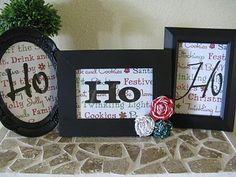 So easy - can be big or mini - painted dollar store frames!