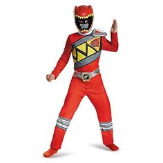 Disguise Red Ranger Dino Charge Classic Costume, Small (4-6)  #Charge #Classic #Costume #Dino #Disguise #KidsHalloweenCostumes #Ranger #Small Halloween Spirit