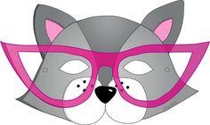 Masque chat à lunettes