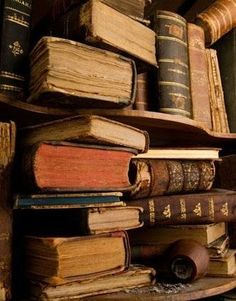 Nothing like the look, touch, and smell of antique books. As much as I love my Kindle, it will never replace this.