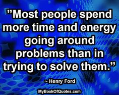 Most people spend more time and energy