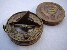 Brass Pocket Sundial Compass