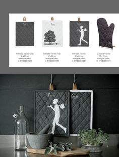 Graphic design potholders /coasters and oven glove. Lovely to dress your kitchen with. | www.kiem-wayoflife.com