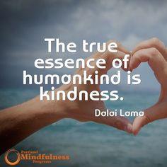 The true essence of humankind is kindness. - Dalai Lama