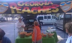 Get your fresh Georgia Peaches at Peachtree City Farmers Market.
