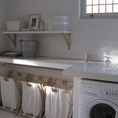 Whimsical Laundry Room - Transitional - laundry room