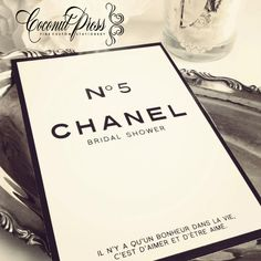 Classy black white coco chanel inspired bridal shower classy black and white chanel inspired shower invitations invitations by coconut press filmwisefo