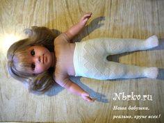 Колготки для куклы из носка