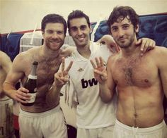 Xabi Alonso, Álvaro Arbeloa and Esteban Granero