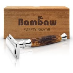 Bambaw's stylish double edge safety bamboo razor is the perfect unisex, plastic free alternative to disposable razors. With a sturdy bamboo handle the Bambaw razor provides a unisex design and a close shave for both men and women. Safety Razor Blades, Classic Shaving, Zero Waste Store, Best Shave, Cutlery Set, Sustainable Living, Sustainable Gifts, Sustainable Fashion, Biodegradable Products