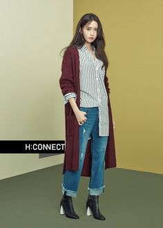 Yoona was transformed into a Fall goddess for the 2016 F/W fashion brand HI Connect, looking youthful and refreshing. With her next drama which also stars Ji Chang Wook not beginn… Snsd Fashion, Korean Fashion, Fashion Outfits, Girls Generation, Yoona Snsd, Rosacea, Korean Celebrities, Korean Actors, Minimal Fashion