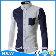 Check out this product on Alibaba.com App:2016 New Fashion slim fit long sleeve mens splice casual shirts for man https://m.alibaba.com/BjyIji