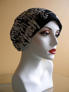 A Soft Cotton Cap or Sleeping Hat for Cancer Patients w Chemo Hair Loss  496f542e01f