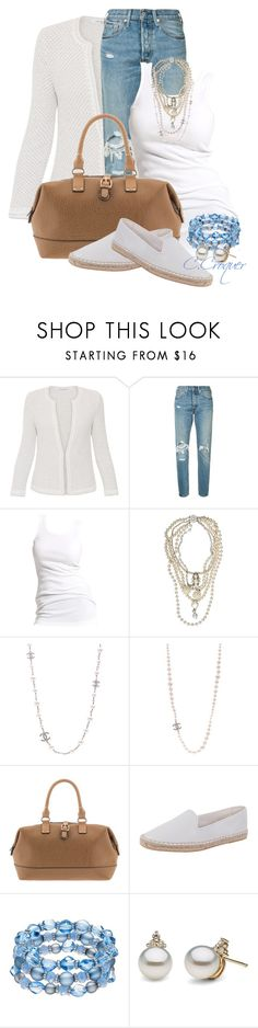 """""""Comfy & Chic"""" by ccroquer ❤ liked on Polyvore featuring Amina Rubinacci, Levi's, Soaked in Luxury, McQ by Alexander McQueen, Chanel, Parfois and Cole Haan"""