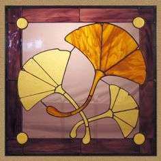 Golden Ginkgos by LassenGlassWorks on Etsy, $200.00