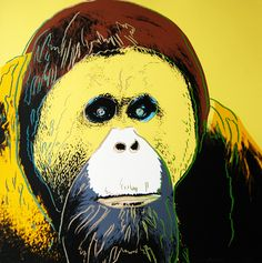 Andy Warhol - Orangutan, Endangered Species series