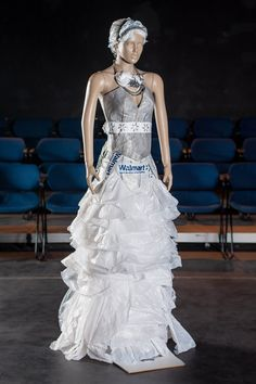 sustainable dress made from plastic bags | Upcycled, recycled ...