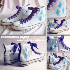Custom Chuck Taylors Rarity My Little Pony by NellaNell on Etsy, $85.00