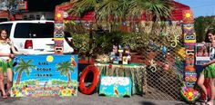 Cookie booth bling: Troop 1201's Girl Scout Island