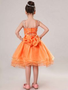 Orange Flower Girl Dresses Cheap