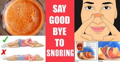 Drink This Before Bedtime and Say Good Bye to Snoring!